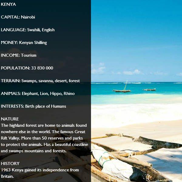 Country Facts - AmatataTravel > Kenya