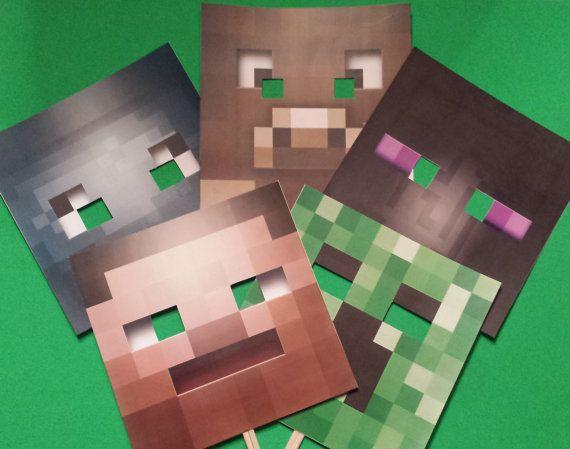 25 best ideas about minecraft mask on pinterest mine craft party minecraft crafts and - Minecraft head decoration ...