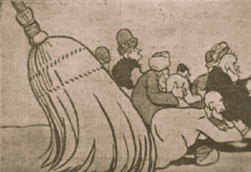 Bu karikatür Yunus Nadi'nin @cumhuriyetgzt 'sinde yayınlanmıştı. Bunların din ve millet düşmanlığı genetik.
