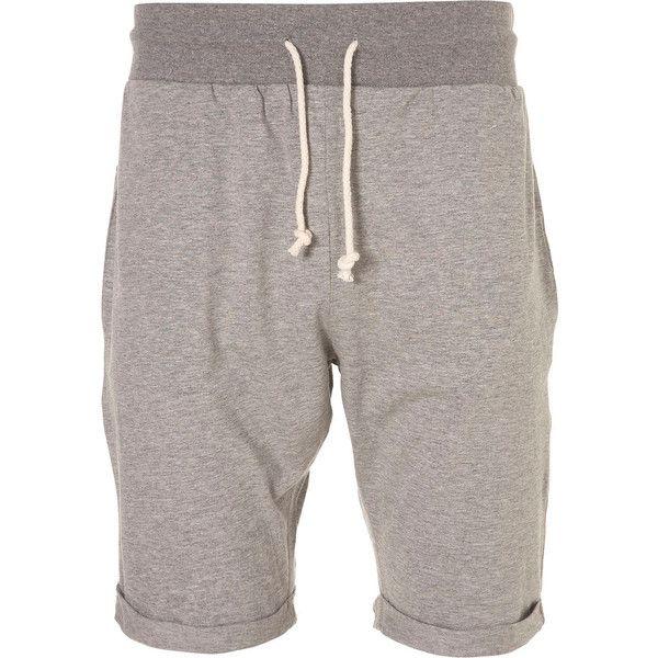Grey Marl Jersey Lounge Shorts - Lounge Shorts - Mens Pyjamas &... ❤ liked on Polyvore featuring men's fashion, men's clothing, boy, men and sleepwear