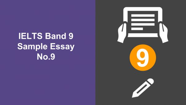 Use the following sample answer (featuring key definitions) and explanations to see how close you are to a band 9!