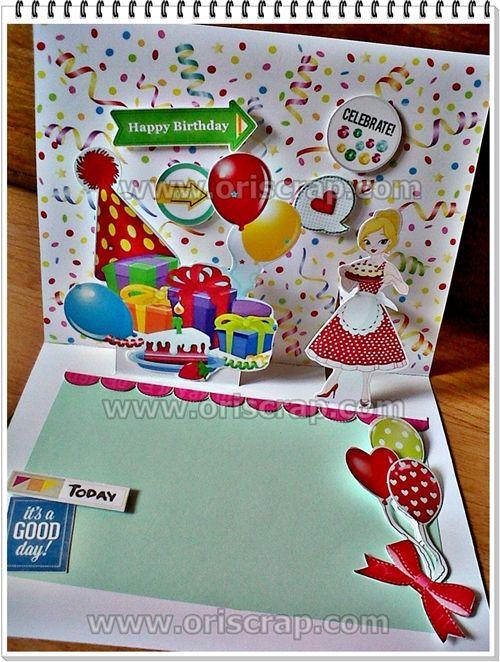 kartu ucapan ulang tahun #scrapbookindonesia #kartuucapanpopup3D #popupcard #jualpopup #jualanku #kartuucapan #jasapopup