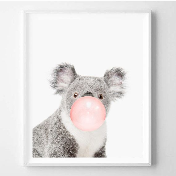 Koala print Nursery art Koala wall art Animal by WallArt2Decor