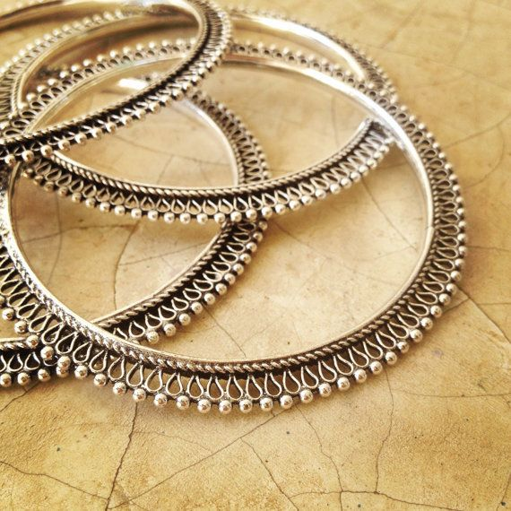 Silver Indian Bangle, Rajasthani Bangle, Tribal Bracelet, Tribal Bellydance Jewellery, Silver Bangle, Boho Brass Bangle.