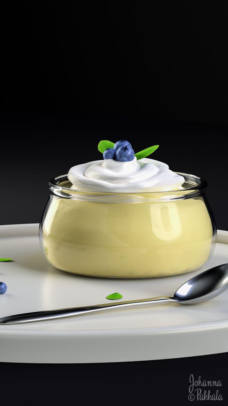 3D dessert. Made with Blender 3D. © Johanna Pakkala. – 3D modeling