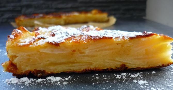Recette de Gâteau invisible léger aux pommes. Facile et rapide à réaliser, goûteuse et diététique. Ingrédients, préparation et recettes associées.