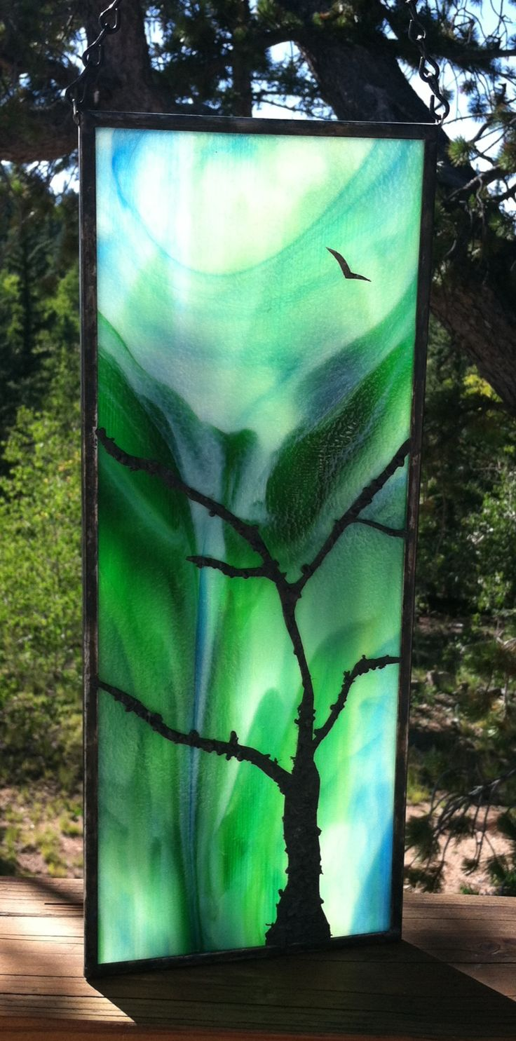 My beautiful stained glass made with the help of my friend.