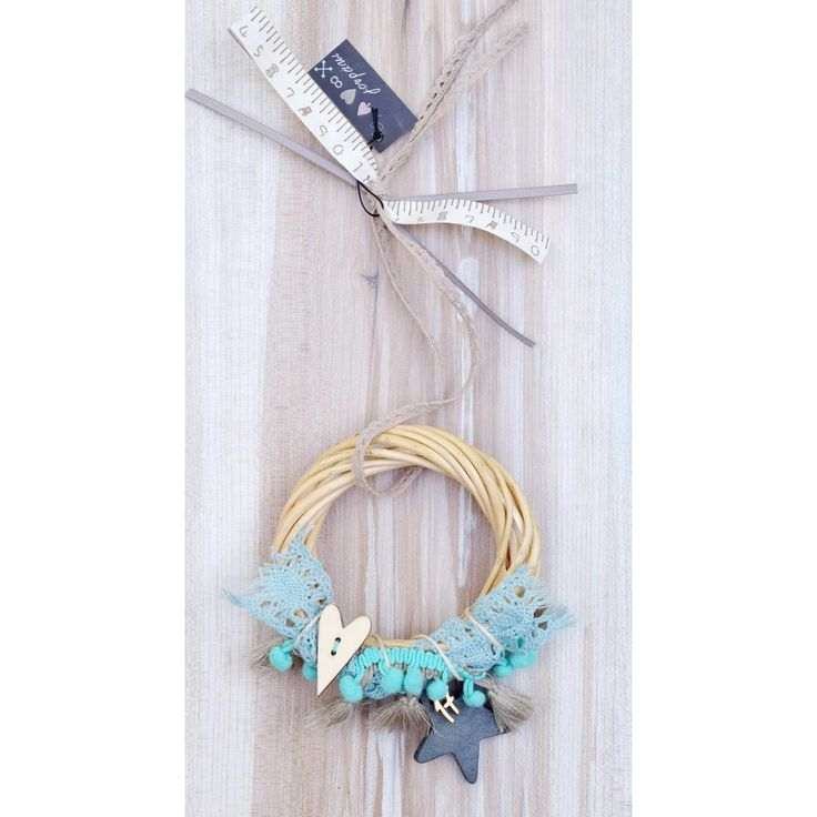 Γούρι Veraman Willow Wreath Star & Heart