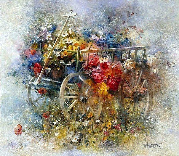 Акварели нидерландского художника Willem Haenraets