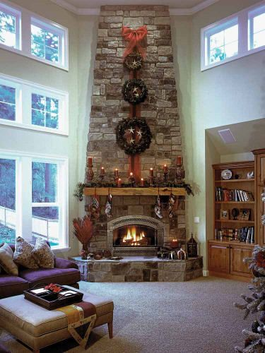 Gorgeous fireplace with great windows ~