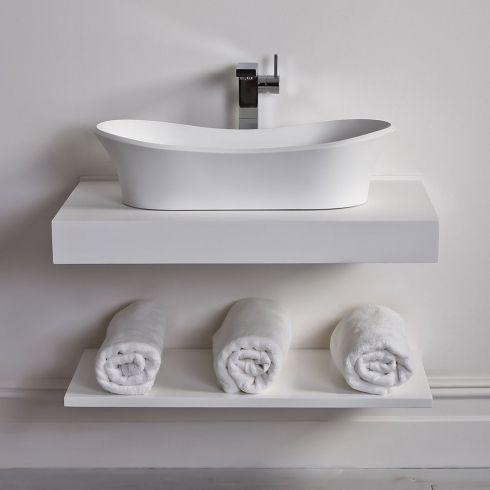 Lusso Stone | Countertop | Vanity Shelf | Basin Shelf