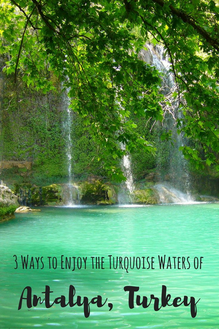 3 ways to enjoy the turquoise waters of Antalya - Turkey.  Put this travel destination on your bucketlist!