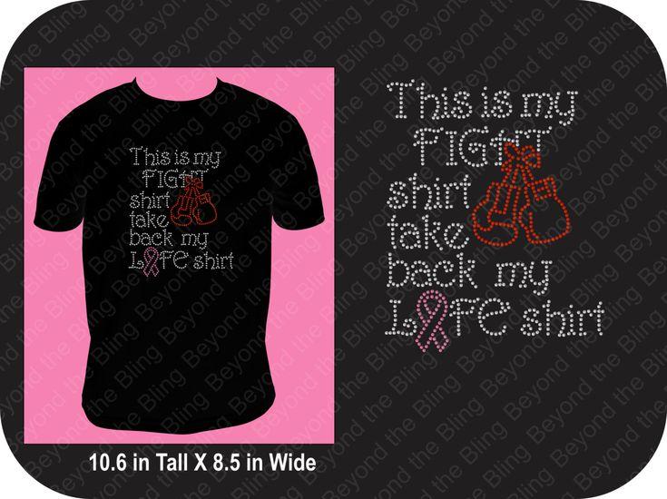 Breast cancer bling shirt breast cancer awareness bling shirt fight breast cancer bling shirt pink ribbon bling shirt fight cancer bling top by BeyondtheBlingUSA on Etsy