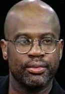Christopher Darden, portrayed by Sterling K. Brown on The People v. O.J. Simpson TV show. See more pics here: http://www.historyvshollywood.com/reelfaces/people-v-oj-simpson/