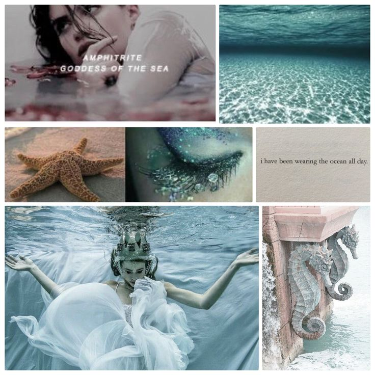 AMPHITRITE was the goddess-queen of the sea, wife of Poseidon& eldest of the fifty Nereides. She was the female personification of the sea--the mother of fish, seals & dolphins. She was the wife of Poseidon and had two children with him; a son named Triton, a merman; and Rhode. Amphitrite also gave birth to other children, such as seals and dolphins. xo ---> Joanna M.
