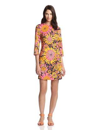 55% OFF JB by Julie Brown Women's Maggie 3/4-Sleeve Shift Dress (Navy Sunkist)