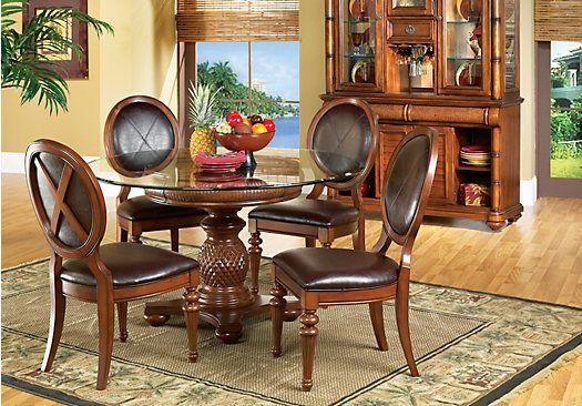 Shop For A Cindy Crawford Home Key West Dark Pedestal 5 Pc