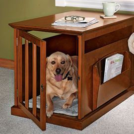 Magazine Rack Crate, Wood Dog Crate, Table Dog Crate | Solutions Good