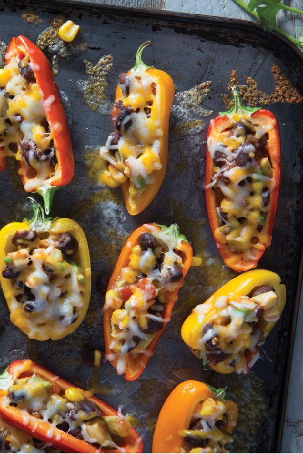 Mini Stuffed Pepper Appetizers – Stuffed with a flavorful mixture of avocados, beans, corn, and salsa, these mini stuffed peppers make a fine addition to any appetizer buffet. Plus, they're ready in just 20 minutes.