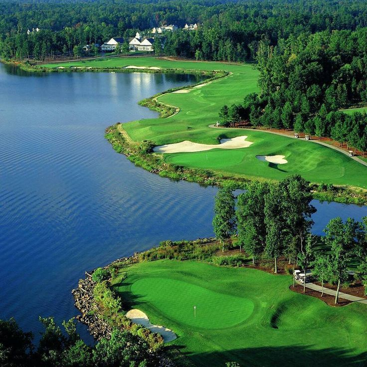 """Tom Fazio said: """"It reminded me a little bit of the Monterey Peninsula in California… with its many steep elevations and contours that provide such interest in the golfing terrain."""" Old North State Club is our #GolfCourseOfTheDay! 