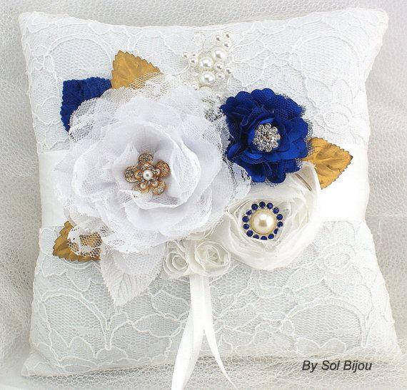 Anillo nupcial portador almohada con en blanco oro y por SolBijou, $115.00