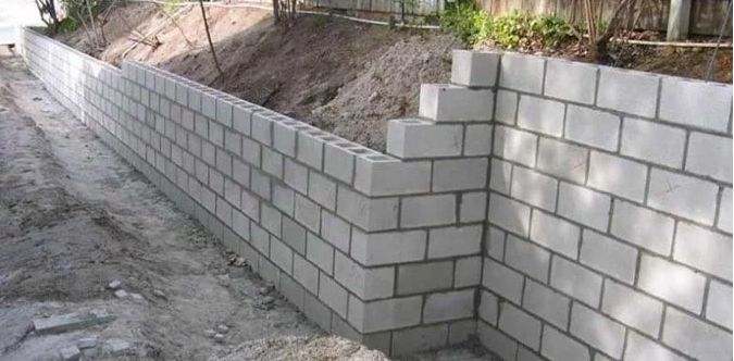 construction of concrete block retaining walls with step on types of walls construction id=37216