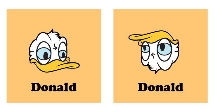 Turn Donald Duck Upside Down and You Get Another Donald