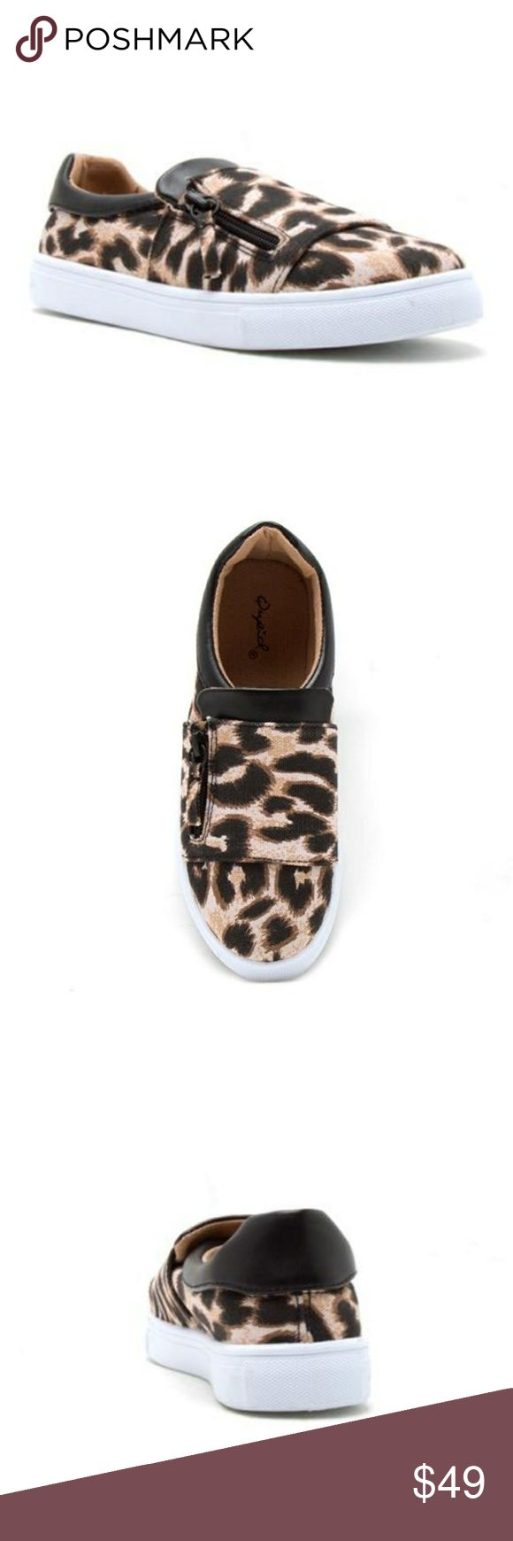 Women's Side Zip Fashion Sneaker Lycra or Canvas 🚨ARRIVAL🚨 ♣️PRICE FIRM ♣️NO HOLDS ♣️NO TRADES 💎RUNS 1 SIZE BIG THANKS💎  Lycra upper in blue and fuchsia and camel leopard is a canvas upper. Side zip fashion sneaker with cushioned ankle. Man made sole. Approx. 1.25 inch sole. Cushioned insole. Must have for the upcoming season.  Features Lycra Upper in Blue and Fuchsia; Canvas Upper in Camel LeopardApprox. 1.25 Platform Sole. Man Made. Cushioned Ankle & InsoleSide Zip Fashion Sneaker…