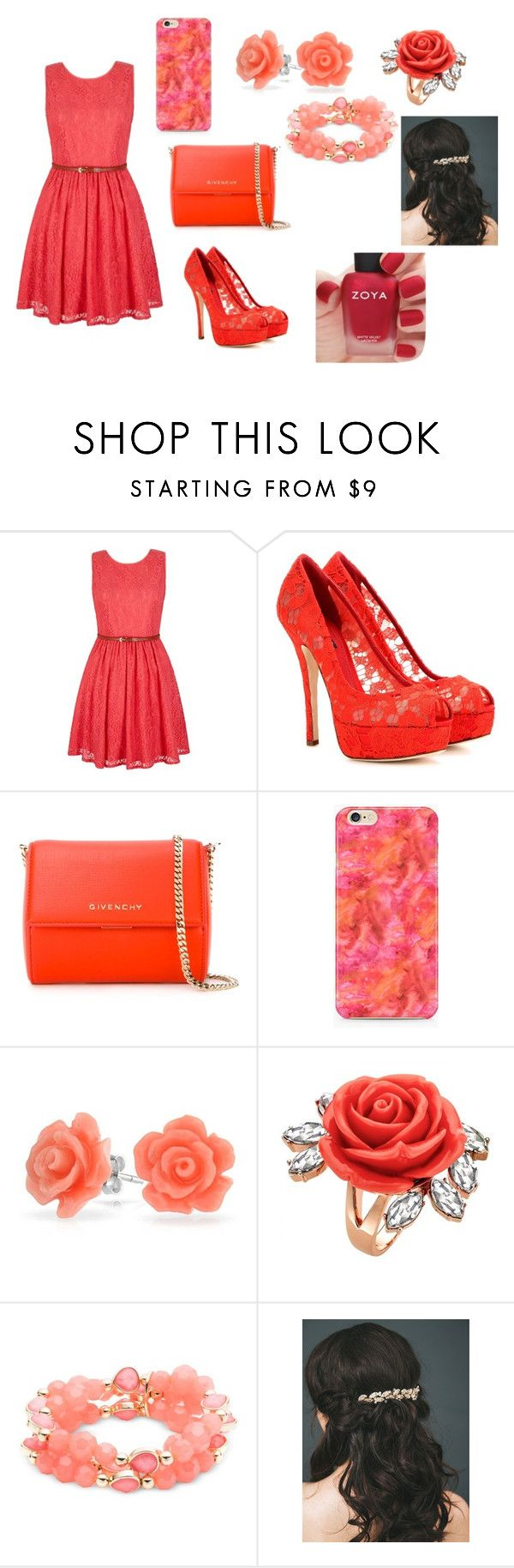 """""""hj"""" by aiste-mini on Polyvore featuring Yumi, Dolce&Gabbana, Givenchy, Bling Jewelry, Mawi, Nine West and Zoya"""