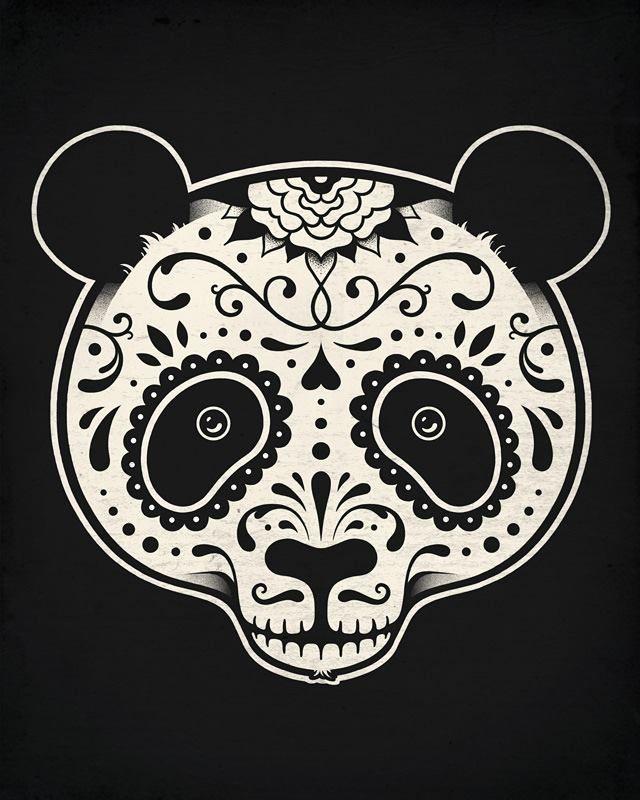Dia de Los muertos panda
