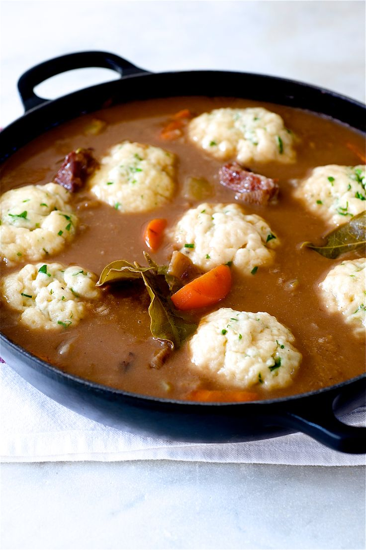 photo of Venison Casserole with Cheddar Chive Dumplings