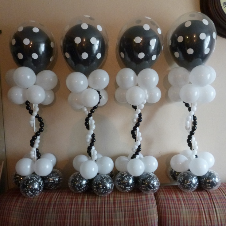 Centerpiece or column balloon wedding centerpiece for Balloon column decoration