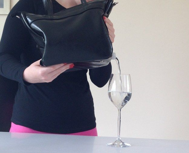 And this handbag has a flask built in. | 17 Insanely Brilliant Ways To Hide Alcohol In Your Outfit