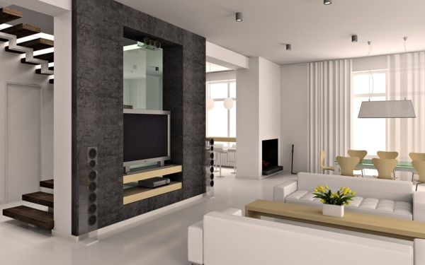 Interior design ideas for the living room - Simple and elegant - Die Elegante Ausstrahlung Vom Modernen Esszimmer Design