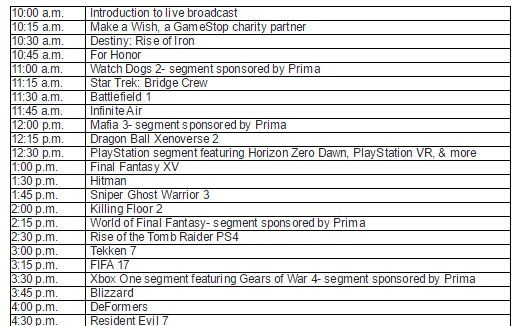 GameStop Expo x Kinda Funny Demo Stream schedule on Twitch for Sept 14, 2016