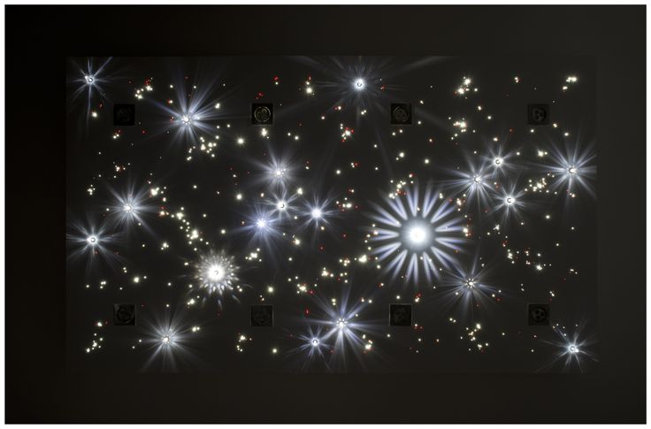Starry sky board consists of crystals and end-light fiber optics. Made with SWAROVSKI ELEMENTS.