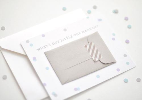 Adorable way to share about baby (from Paper Crave)