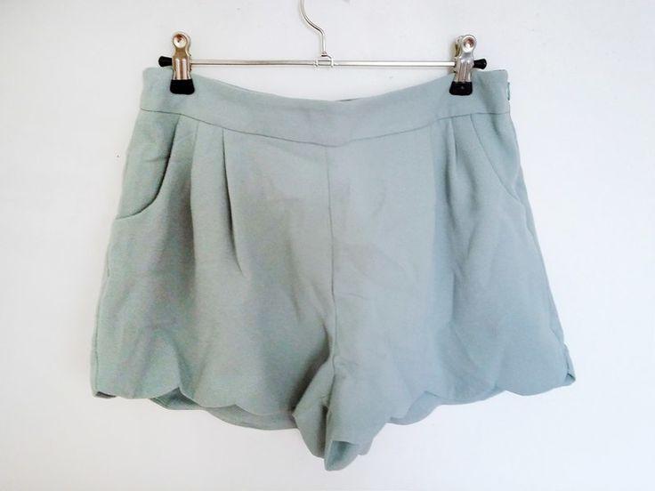 Short taille haute vert menthe avec bords festonnés - vinted.fr