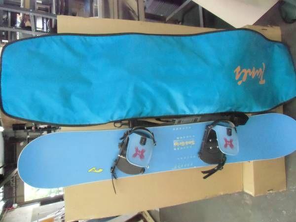 sno grip スノーボード バッグ付 水色 144cm T-27_画像1