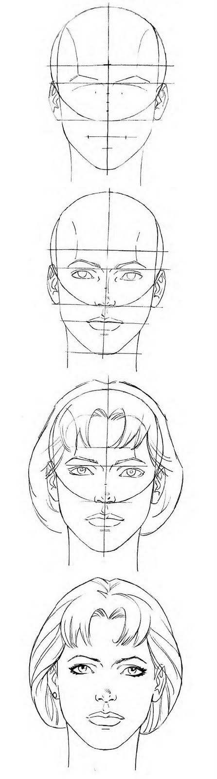 Female Head proportions template/reference // follow me on instagram: @itsjohnreid