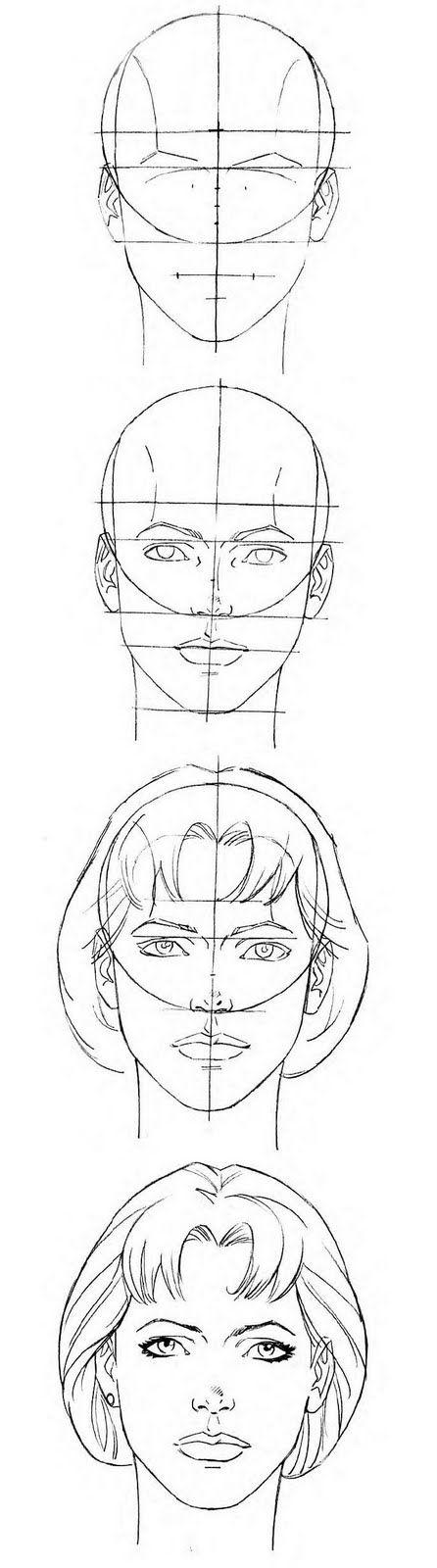 Female Head proportions template/reference // follow me on instagram: @itsjohnreid