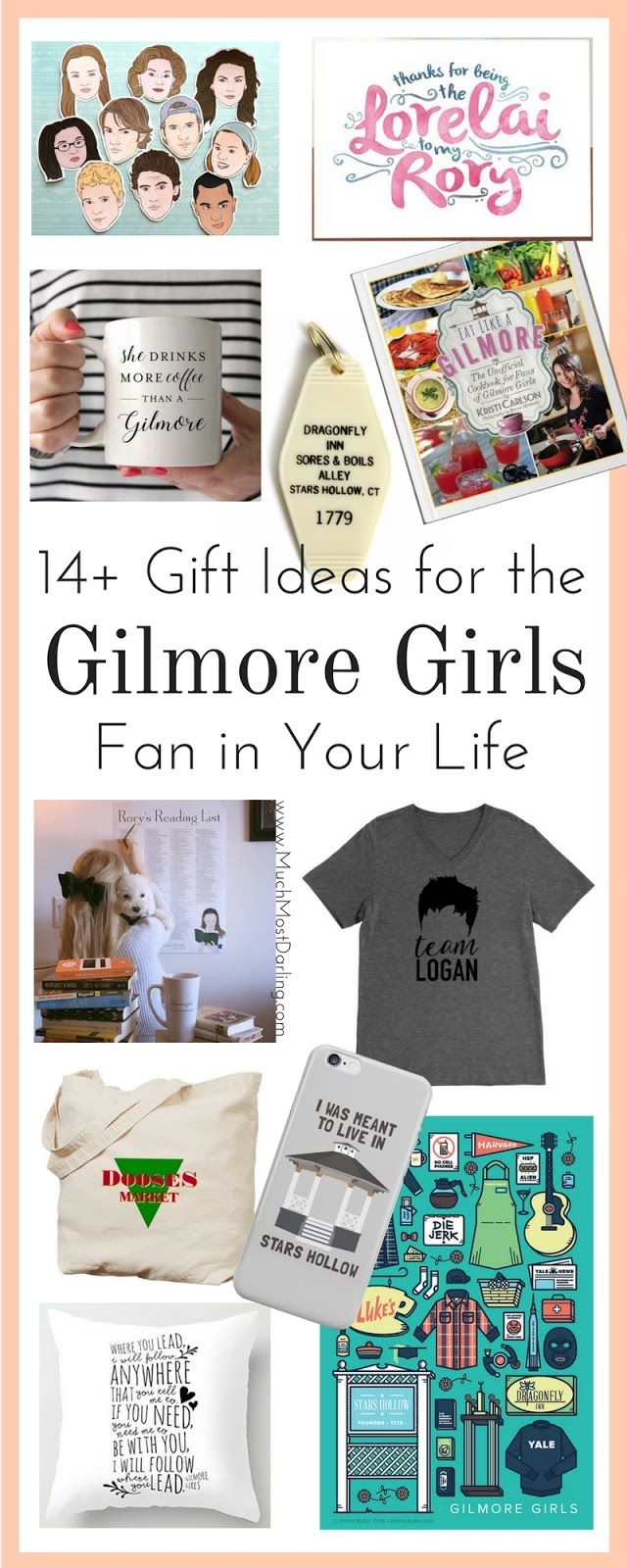 The Gilmore Girls are back! More than 14 of the best Gilmore Girls themed gifts for the Stars Hollow addict in your life.