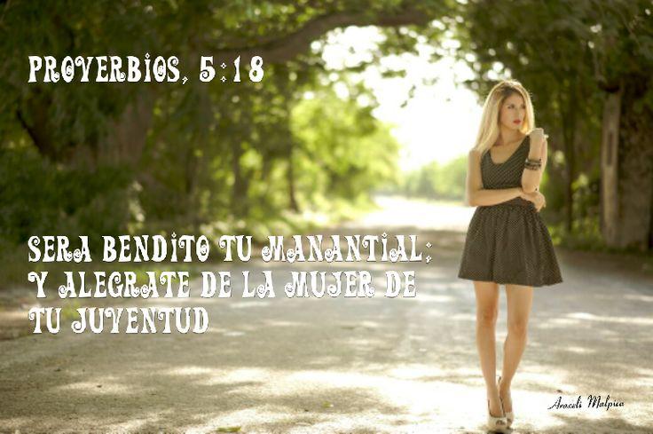 Proverbios, 5:18 - Será bendito tu manantial; y alégrate de la mujer de tu juventud. 🌹🍃