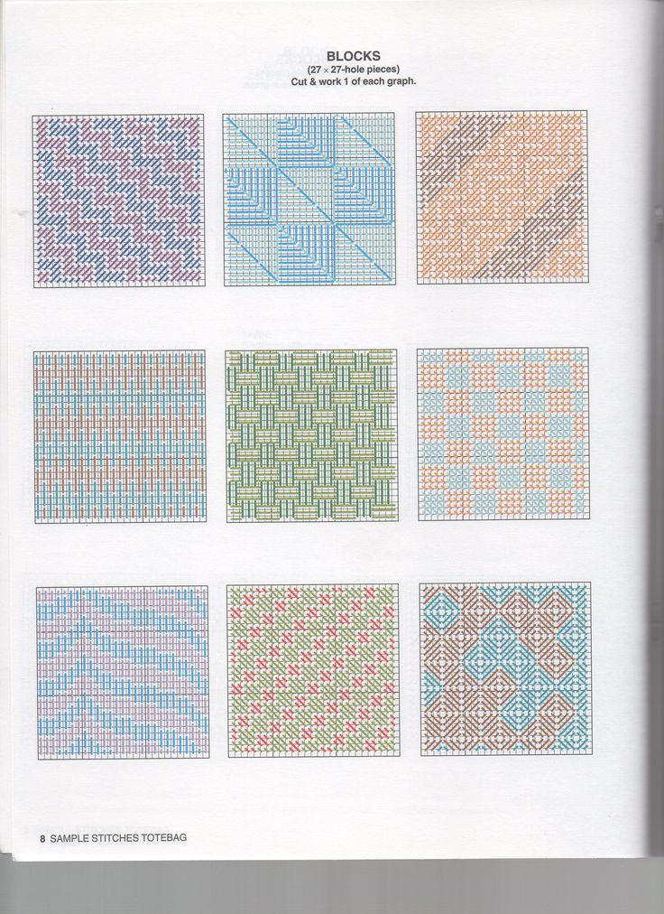 Borduren op Plastic Canvas: Voorbeelden, Ideeën, Patronen *Embroidery: Examples, Pattern ~DIY Boodschappentas 5/10~