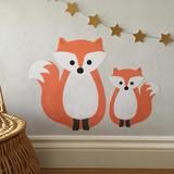 fox wall stickers / decals for kid's bedroom or playroom