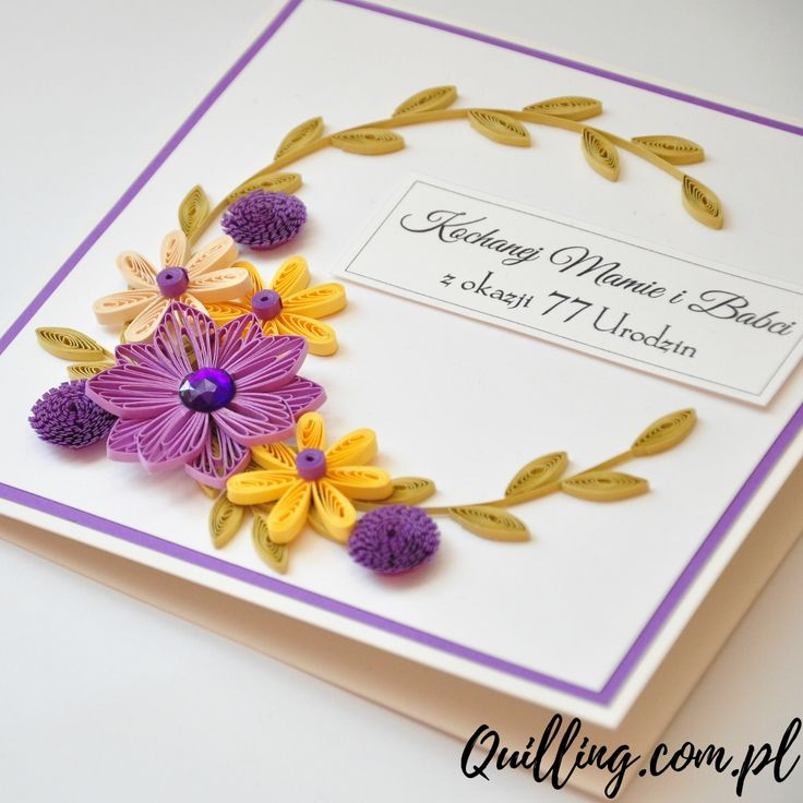 quilling, husking, greeting card, birthday, handmade, paperart, craft, quilling.com.pl