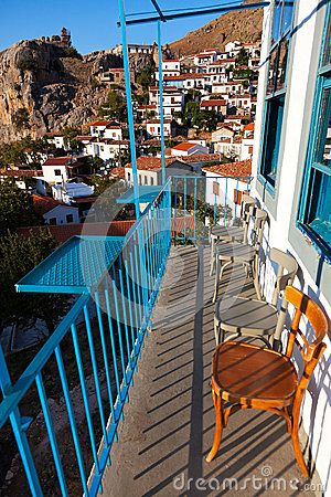Village of 'Chora' at Samothrace island in Greece