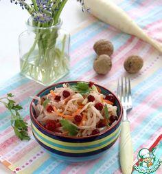 Пикантный салат с редькой - кулинарный рецепт