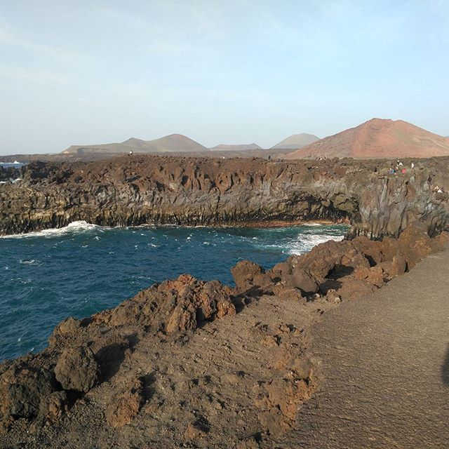 Timanfaya National Park from Los Hervideros - Lanzarote, Canary Islands
