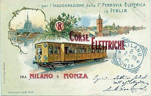 Milano Monza col tramvai